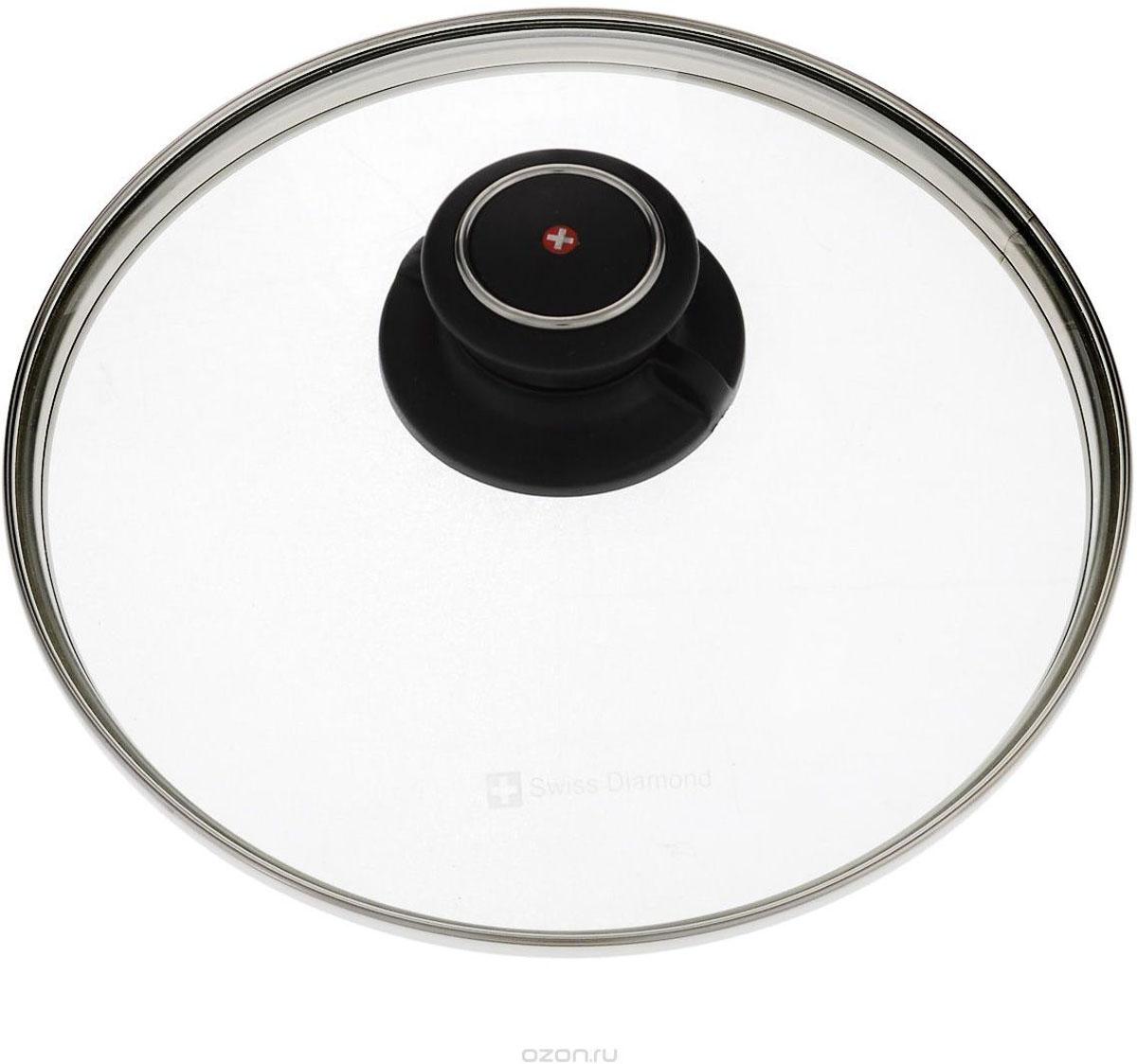 Крышка стеклянная  Swiss Diamond . Диаметр 20 см. SDC 20 - Посуда для приготовления