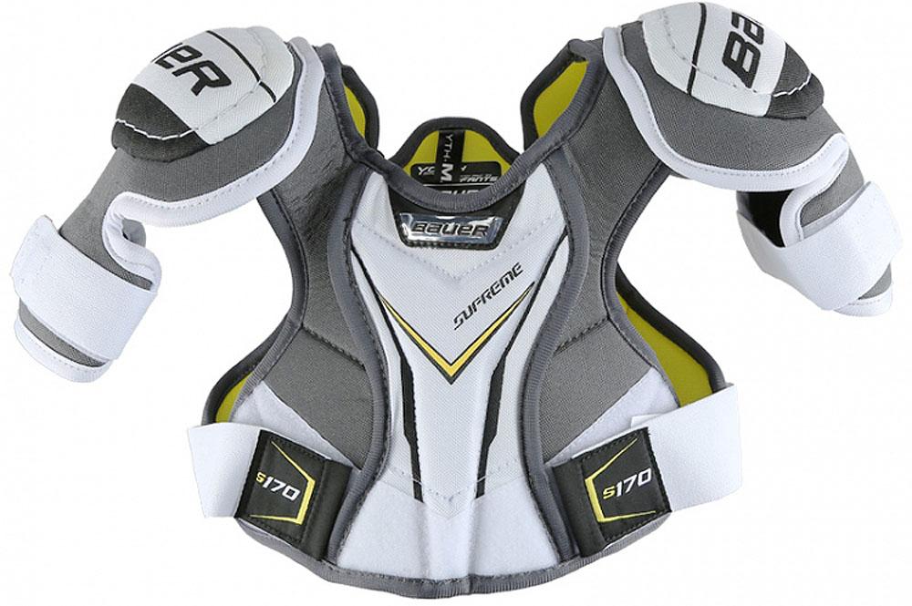 Наплечники Bauer  Supreme , цвет: белый, серый. 1050699. Размер M - Ледовые коньки, хоккей