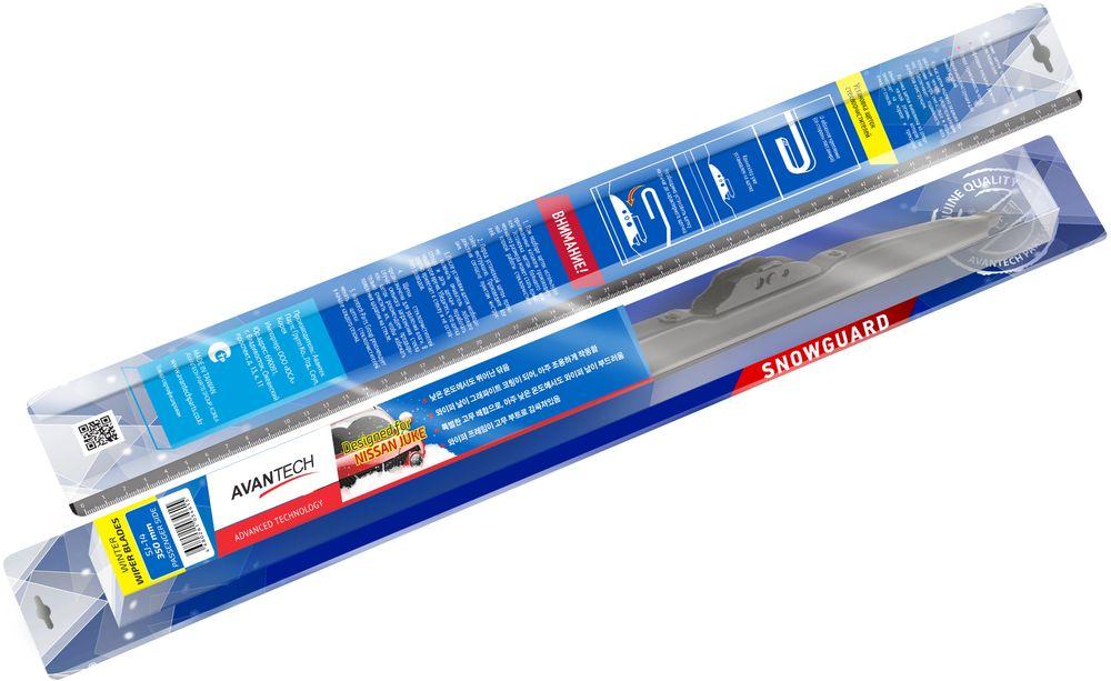 Щетка стеклоочистителя Avantech Snowguard, для Nissan Juke 2010, 14 (350 мм)SJ-14Щетка стеклоочистителя зимняя Avantech Snowguard 14 длиной 350 мм отлично походит для очистки стекла в условиях осадков при температуре от 0 до -40 °C. Благодаря резиновому кожуху механизм щётки защищён от внешних воздействий - налипанию снега и образованию льда, что обеспечивает хорошую и равномерную прижимаемость. Щётка предназначена для автомобилей Nissan Juke.