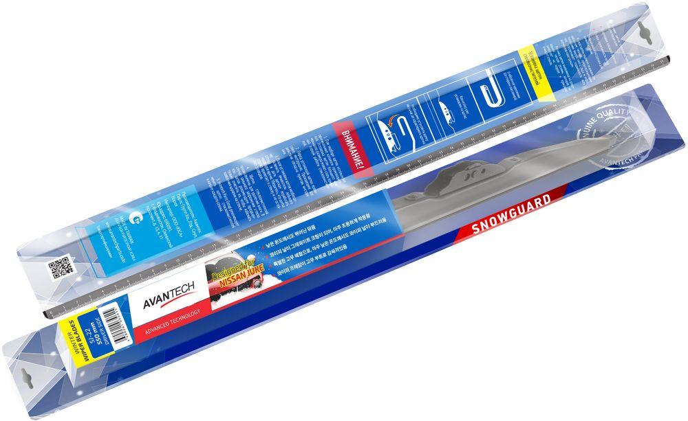Щетка стеклоочистителя Avantech Snowguard, для Nissan Juke 2010, 22 (550 мм) переходная рамка incar rns n12w для nissan juke 2015 вставки