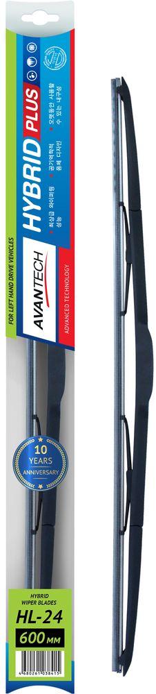 Щетка стеклоочистителя Avantech Hybrid, гибридная, под крючок, 24 (600 мм)HL-24