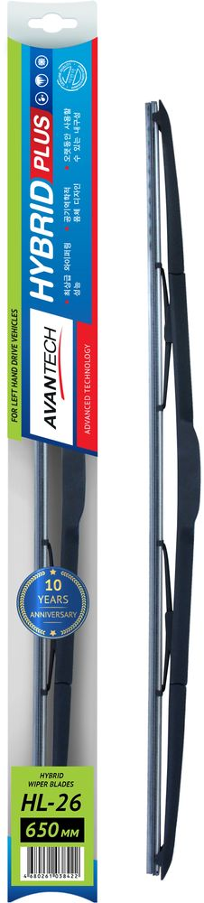 Щетка стеклоочистителя Avantech Hybrid, гибридная, под крючок, 26 (650 мм)HL-26