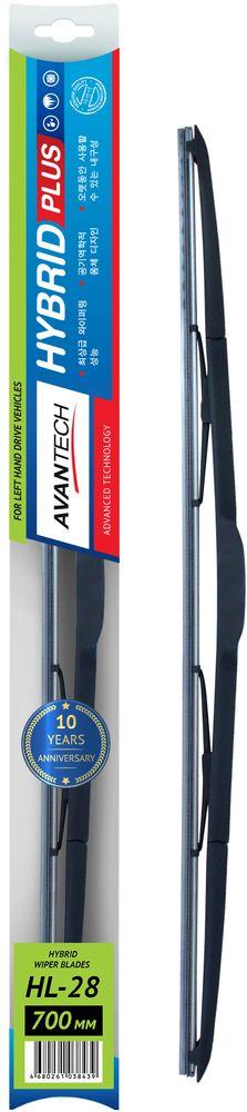 Щетка стеклоочистителя Avantech Hybrid, гибридная, под крючок, 28 (700 мм)HL-28