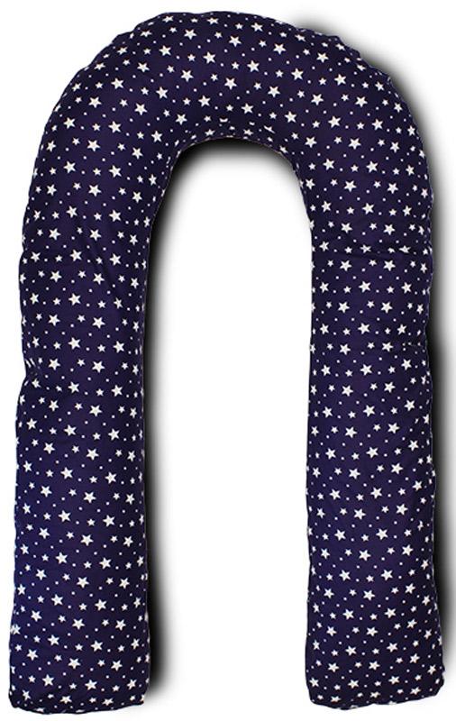 Body Pillow Подушка для беременных U-образная с наполнителем пенополистирол цвет синий с белыми звездами - Подушки для беременных и кормящих