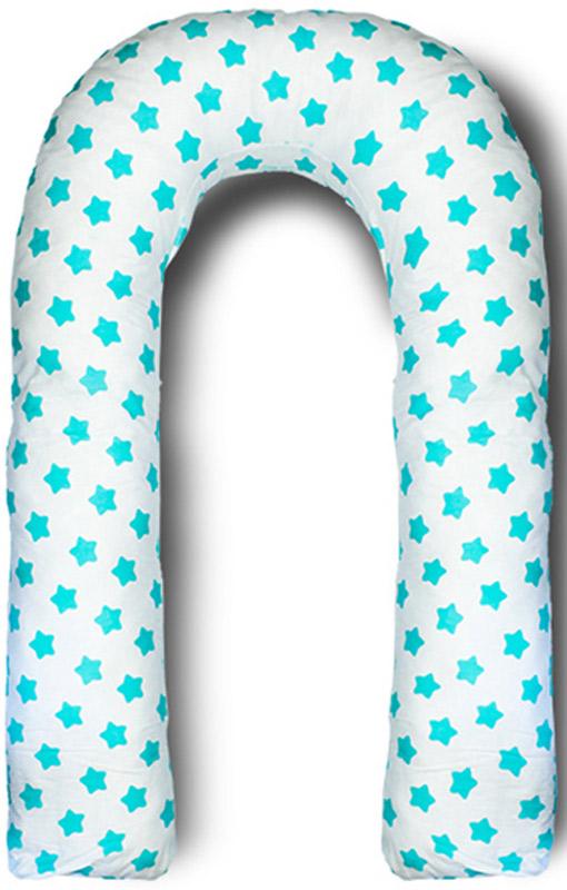 Body Pillow Подушка для беременных U-образная с наполнителем пенополистирол цвет белый с мятными фигурками пряников - Подушки для беременных и кормящих