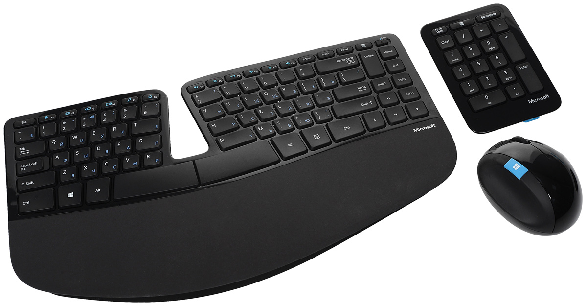 Microsoft Sculpt Ergonomic Desktop, Black USB клавиатура + мышь