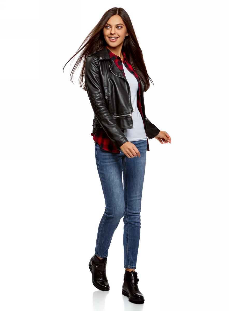 Джинсы женские oodji Ultra, цвет: синий джинс. 12103166/47546/7500W. Размер 30-30 (50-30)12103166/47546/7500W