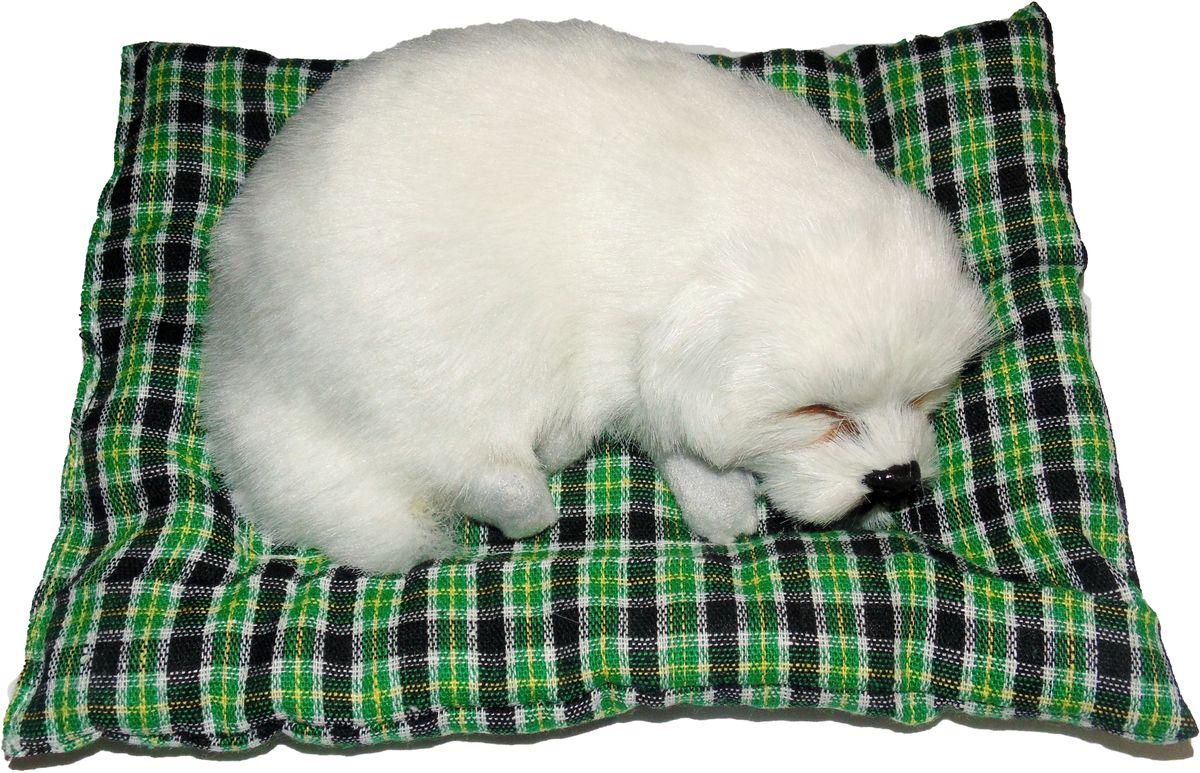 Vebtoy Фигурка Собачка на коврике цвет белый аксессуар для дышащей игрушки vebtoy цвет белый