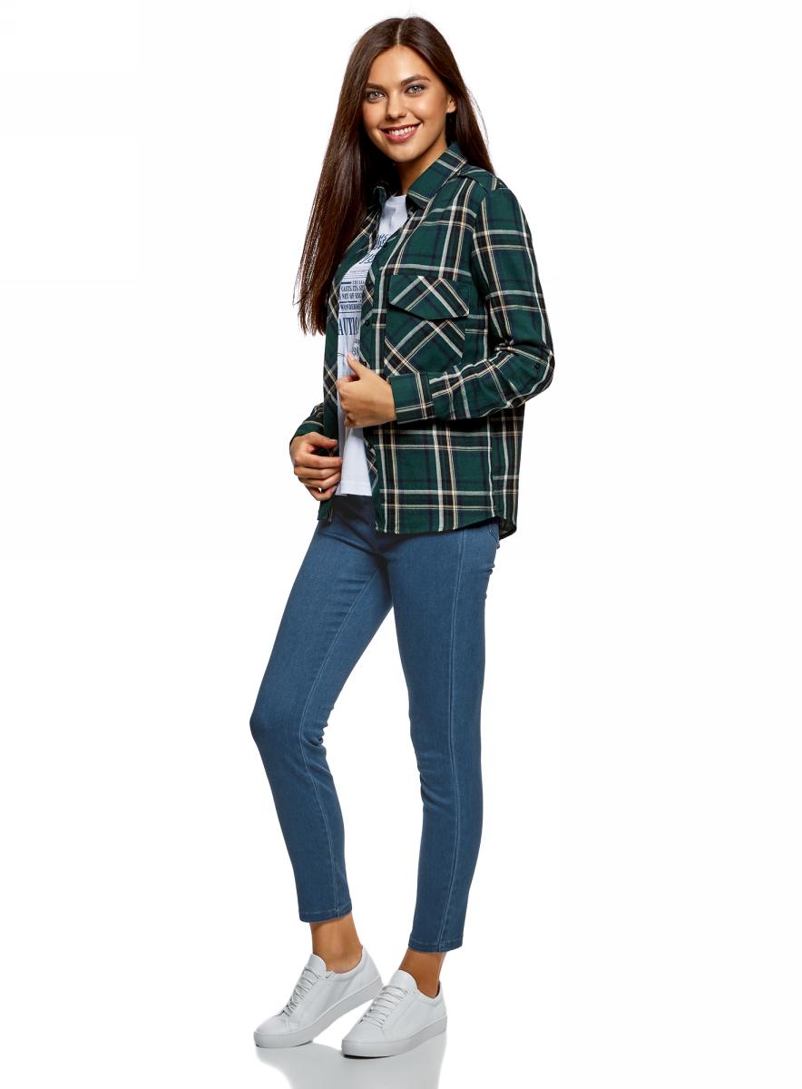 Джинсы женские oodji Ultra, цвет: синий джинс. 12104073/47621/7500W. Размер 28-30 (46-30)12104073/47621/7500W
