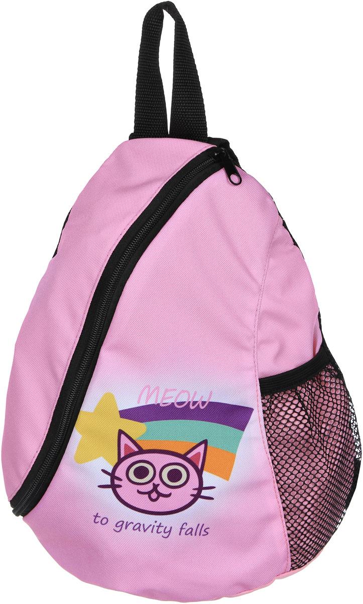 Рюкзак женский Elisir, цвет: розовый. DE-GF003-GS0006-000DE-GF003-GS0006-000Рюкзак с 1 лямкой Гравити Фолз кошечка