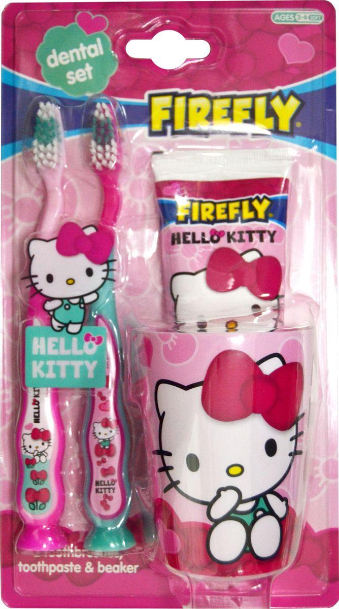 Hello Kitty Набор дентальный: зубная щетка 2 шт + зубная паста 75 мл + стаканчик в блистере - Товары для гигиены