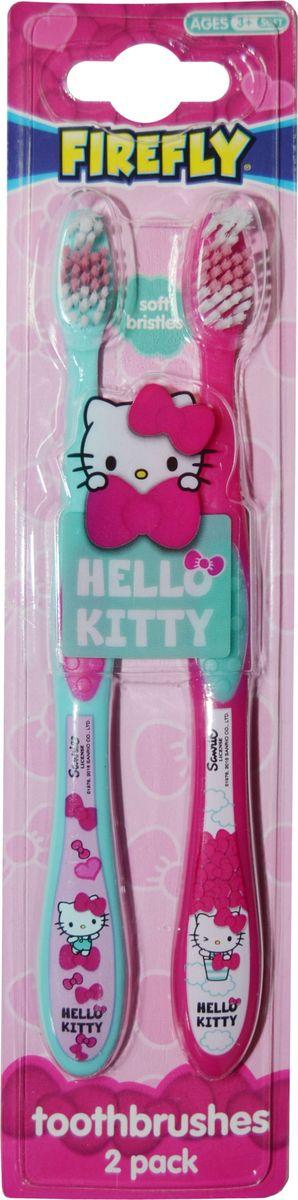 Hello Kitty Набор детских зубных щеток с резиновой вставкой 2 штHK-9Hello Kitty Набор детских зубных щеток (2шт.) с резиновой вставкой. Мягкая щетина. От 3-х лет.