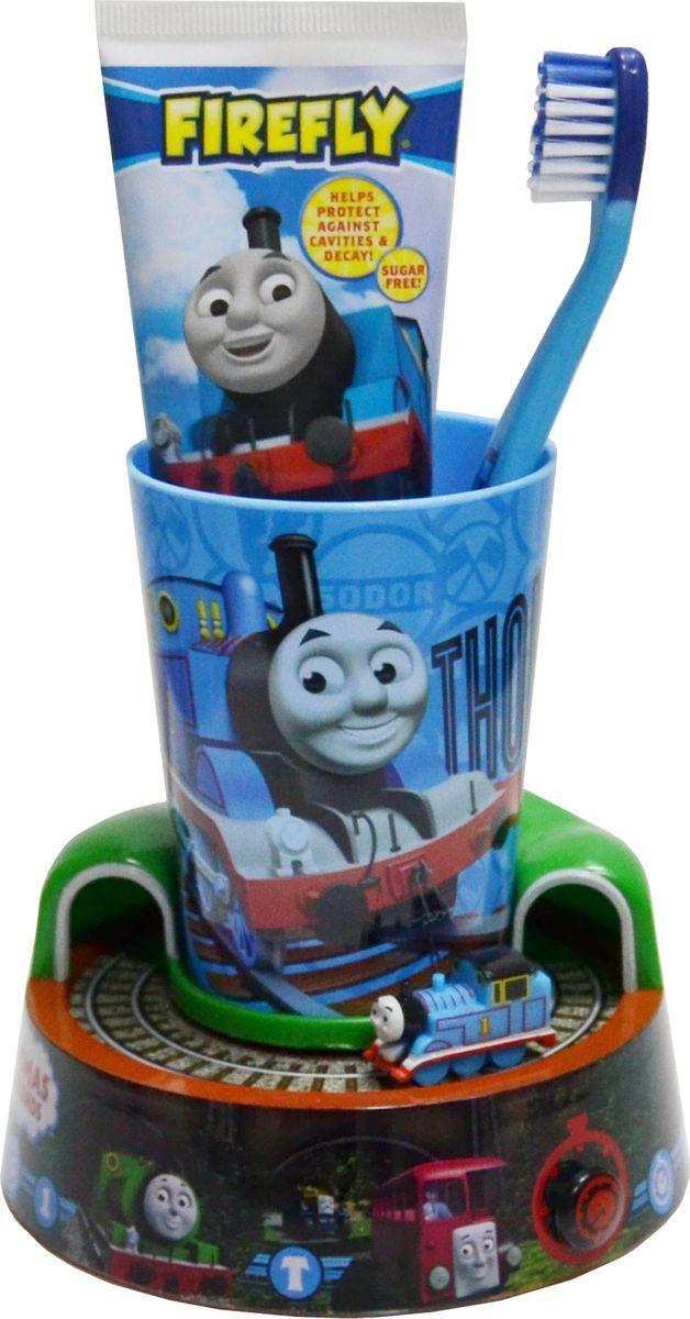 Thomas & Friends Набор: зубная щетка + зубная паста 75 мл + стаканчик + подставка-игрушка с таймеромTF-13Thomas&Friends Набор: 1 мягкая зубная щетка, зубная паста 75мл, стаканчик и подставка-игрушка, с таймером. От 3-х лет