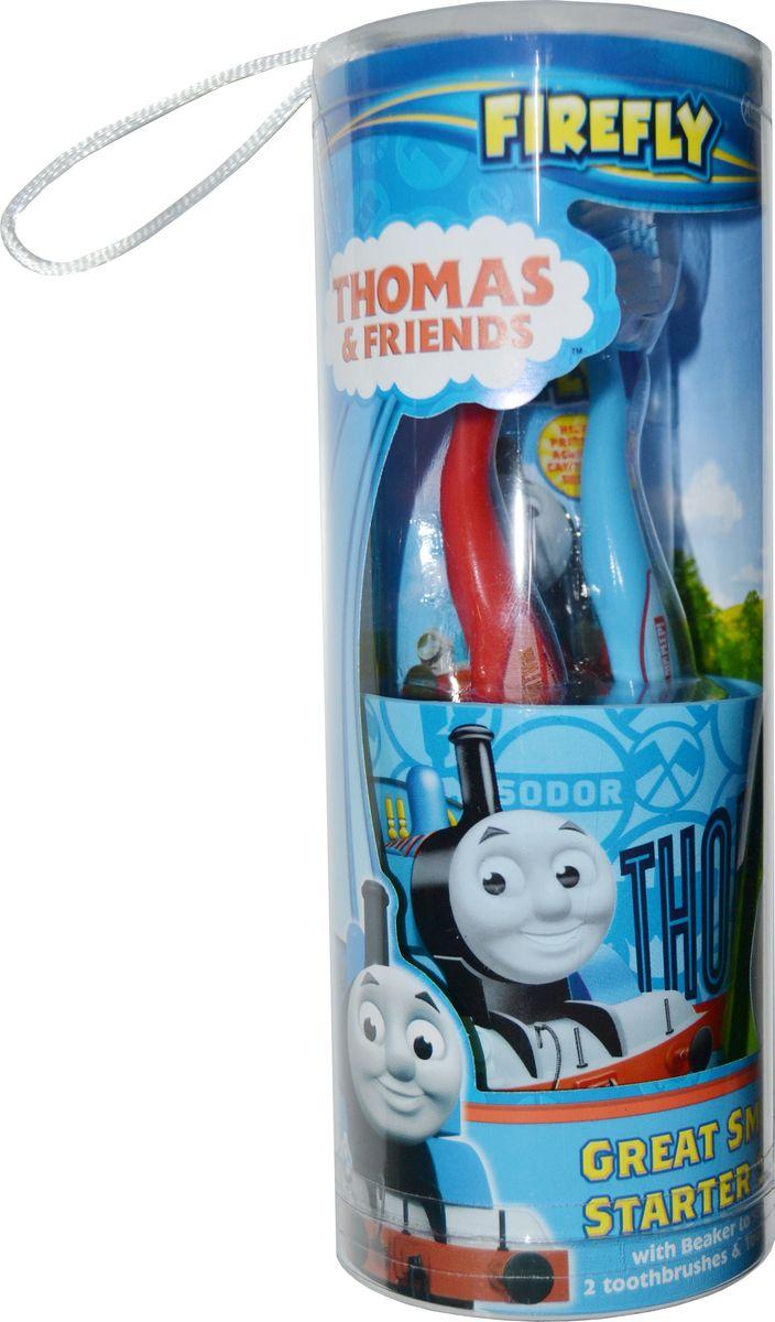 Thomas & Friends Набор дентальный: зубная щетка 2 шт + зубная паста 75 мл + стаканчик в тубеTF-15,5Thomas&Friends Набор дентальный: 2 мягкие зубные щетки, зубная паста 75мл, стаканчик. От 3-х лет
