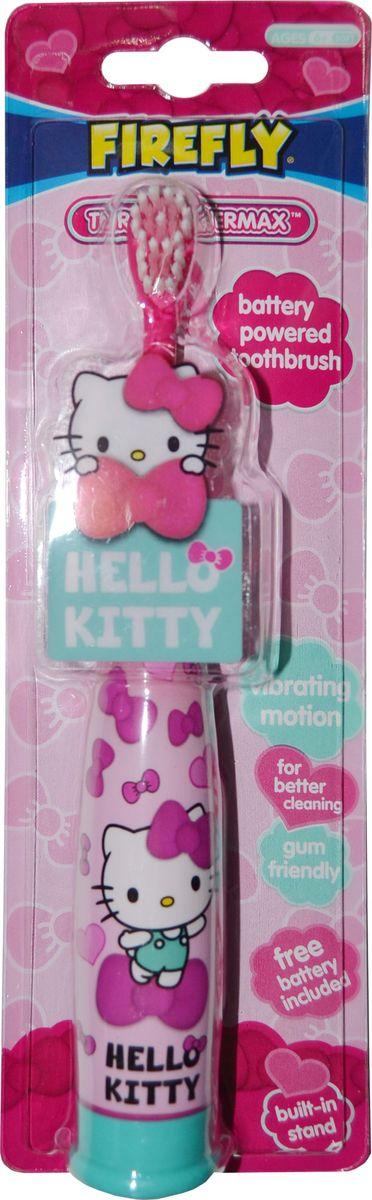 Hello Kitty Детская зубная щетка с батарейкойHK-6,5Детская Hello Kitty зубная щетка с батарейкой, встроенной в ручку, устойчивая. Мягкая щетина. 6+.