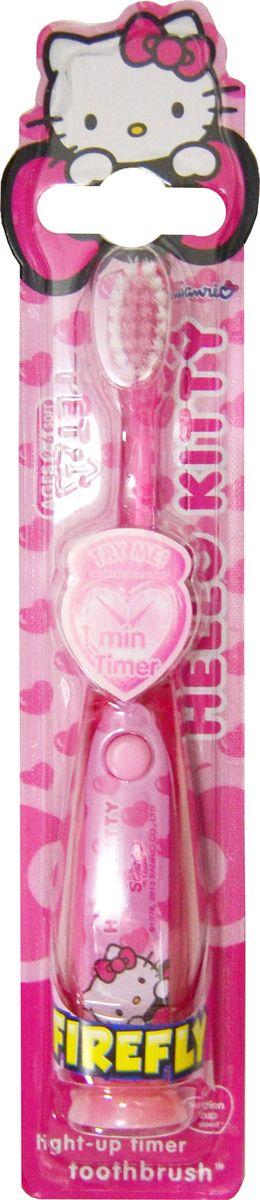 Hello Kitty Детская зубная щетка с таймером-подсветкой на резиновой присоскеHK-5,5Hello Kitty Детская зубная щетка с таймером-подсветкой. На резиновой присоске. Мягкая щетина.