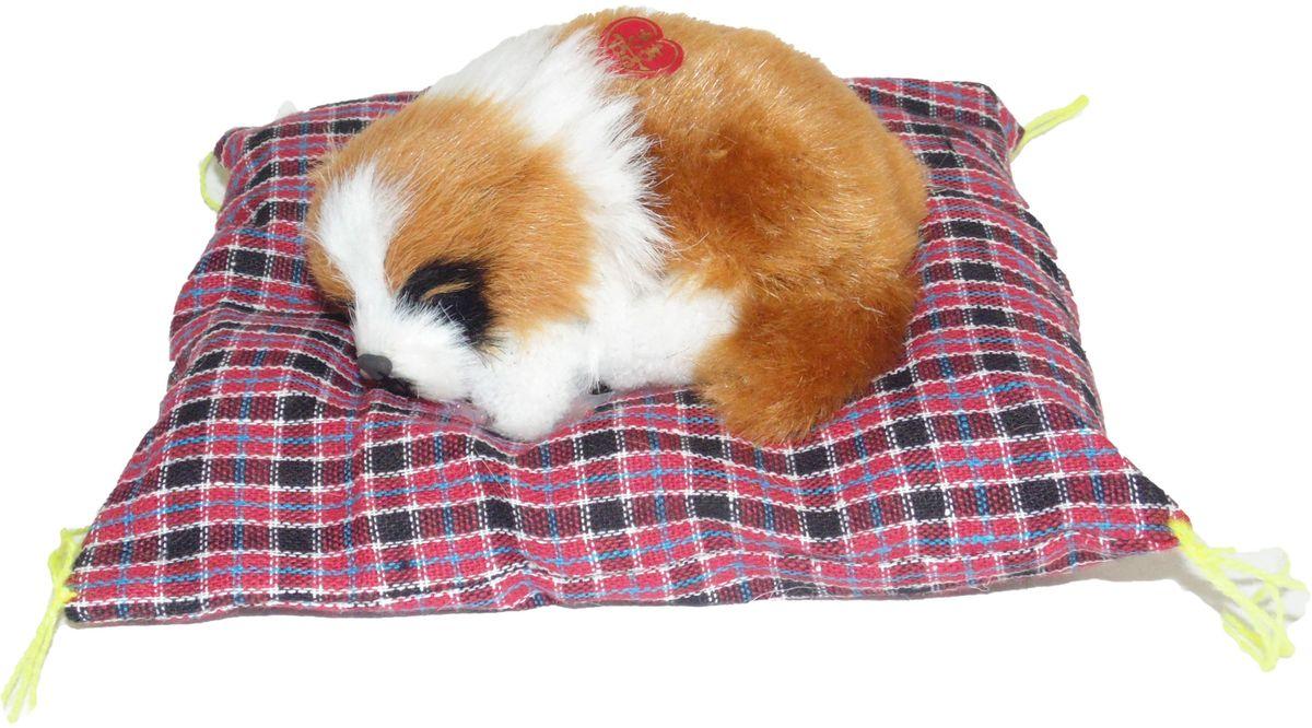 Vebtoy Фигурка Сенбернар на коврике со звуком Гав цвет коричневый D522