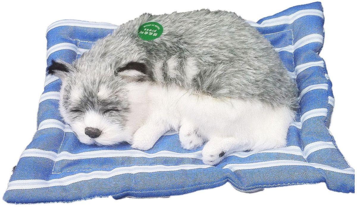 Vebtoy Фигурка Сибираская Хаски на коврике с звуком гав цвет серый