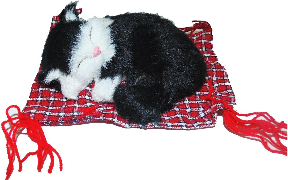 Vebtoy Фигурка Котенок на коврике цвет черный