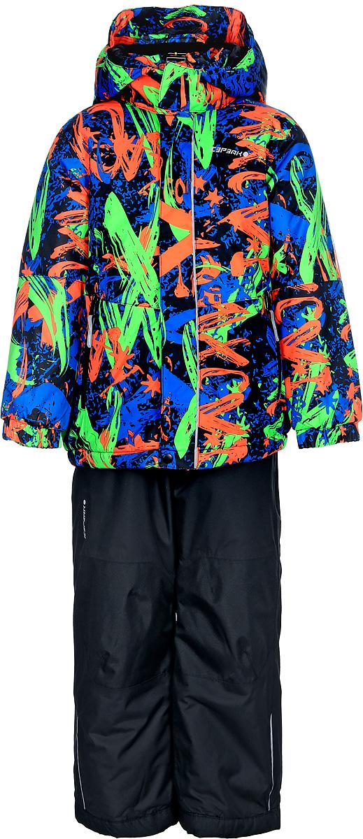 Комплект для мальчика Icepeak: куртка, брюки, цвет: оранжевый, синий. 852103522IV_990. Размер 116852103522IV_990Комплект для мальчика Icepeak, состоящий из куртки и брюк на лямках, выполнен из 100% полиэстера. Материал изготовлен при помощи технологии Icemax, которая обеспечит вашему ребенку надежную защиту от ветра и влаги. Все швы куртки и брюк проклеены, для обеспечения дополнительной защиты от непогоды. В качестве подкладки также используется полиэстер. Утеплителем служит материал FinnWad, который обладает высокими теплоизоляционными свойствами. Куртка с воротником-стойкой и съемным капюшоном застегивается на застежку- молнию с защитой для подбородка и ветрозащитной планкой на липучках и кнопках. Капюшон пристегивается к изделию за счет кнопок. Низ изделия дополнен эластичными вставками, а низ рукавов - хлястиками на липучках. Спереди расположены два прорезных кармана на застежках- молниях. Куртка оформлена оригинальным принтом. Брюки застегиваются на пуговицу и имеют ширинку на застежке-молнии. Модель оснащена эластичными наплечными лямками, регулируемыми по длине. Пояс, имеющий по бокам эластичные вставки, оснащен шлевками для ремня. Комплект оснащен специальными деталями для дополнительной безопасности ребенка во время занятий спортом и активного отдыха на улице.