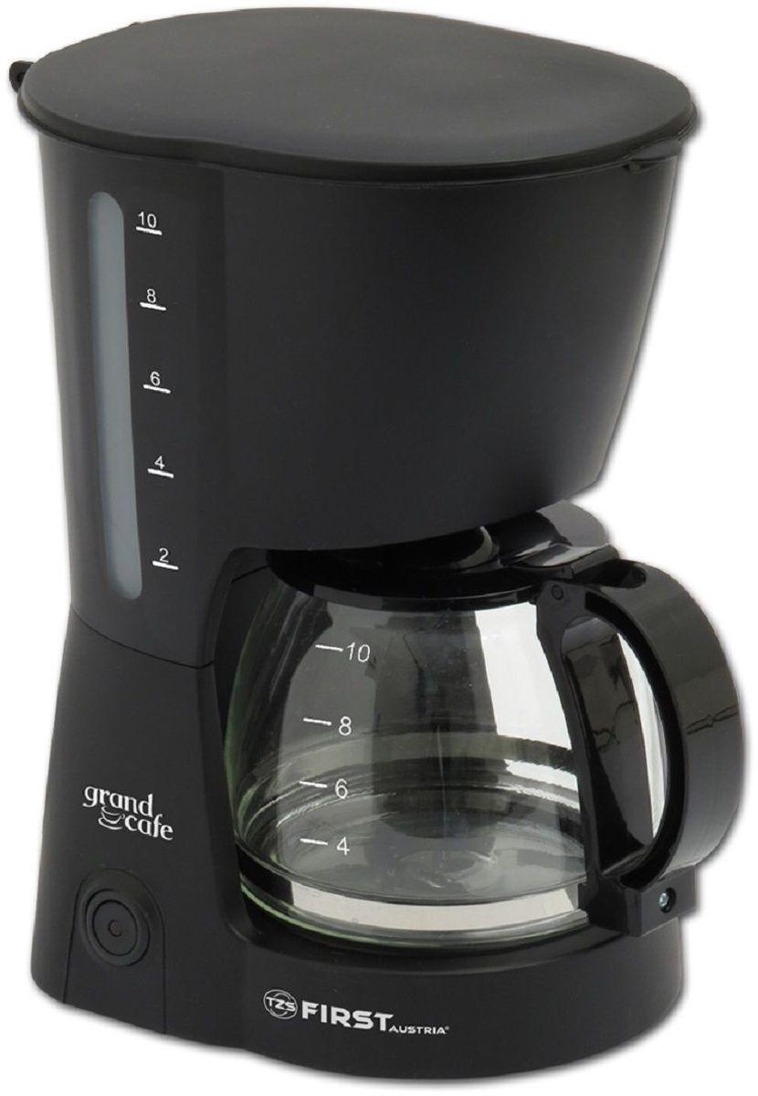 First FA-5464-2, Black кофеваркаFA-5464-2Кофеварка FIRST 5464-2 Black, мощность: 750 Вт, емкость: 8 чашек, капельная, прохождение кипятка через молотый кофе, функция поддержания температуры, антикапельный механизм, постоянный фильтр, съемная корзинка фильтра.