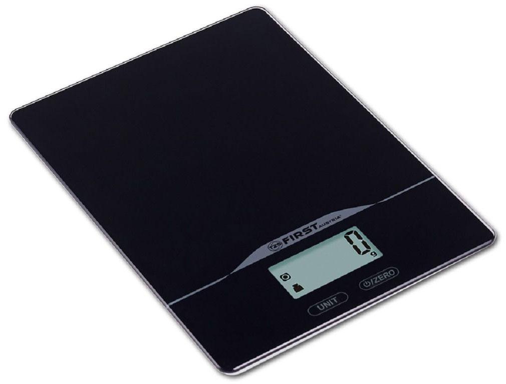 First FA-6400-2-BA, Black кухонные весыFA-6400-2-BAКухонные весы First FA-6400-2-BA - это отличный помощник на вашей кухне. Функция компенсации тары позволит взвешивать не учитывая массу тары, а высокая точность даст возможность точно следовать вашим любимым рецептам. Имеется индикатор перегрузки. С помощью данной модели также можно измерять объем жидкости.
