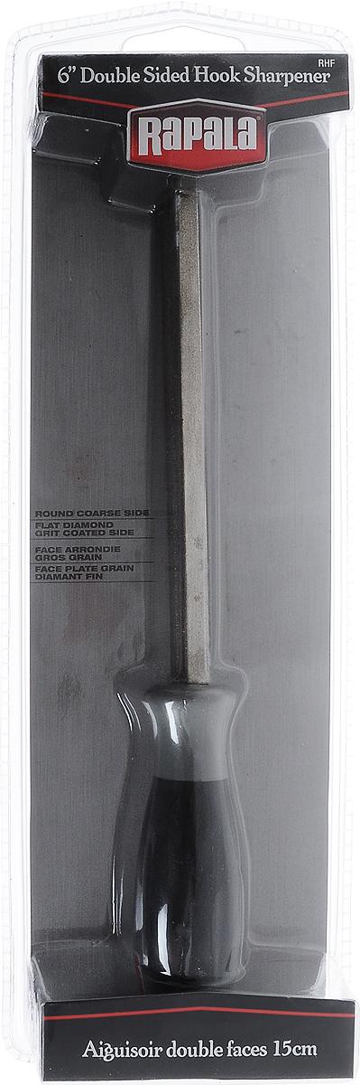 Точилка Rapala, двухсторонняя, для крючковRHFКруглая- крупнозернистая, плоская- мелкозернистая сторона. Точит крючки до идеальной остроты.