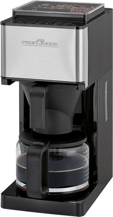 Profi Cook PC-KA 1138, Black Silver кофеварка00-00001453Profi Cook PC-KA 1138 - кофеварка для самого взыскательного покупателя.Простая, но максимально удобная конструкция прибора позволит вам без труда приготовить около 8-10 чашек натурального кофе, который подарит вам бодрость на целый день.Передняя панель корпуса кофеварки выполнена из нержавеющей стали; она гарантирует привлекательный внешний вид и прекрасные износоустойчивые характеристики.Прибор оснащен кофемолкой с 14 степенями помола, которая снимается для легкой очистки. Кофейный бункер рассчитан на 150 г кофейных зерен. Данная модель имеет сенсорную панель управления с программируемым 24-часовым таймером.