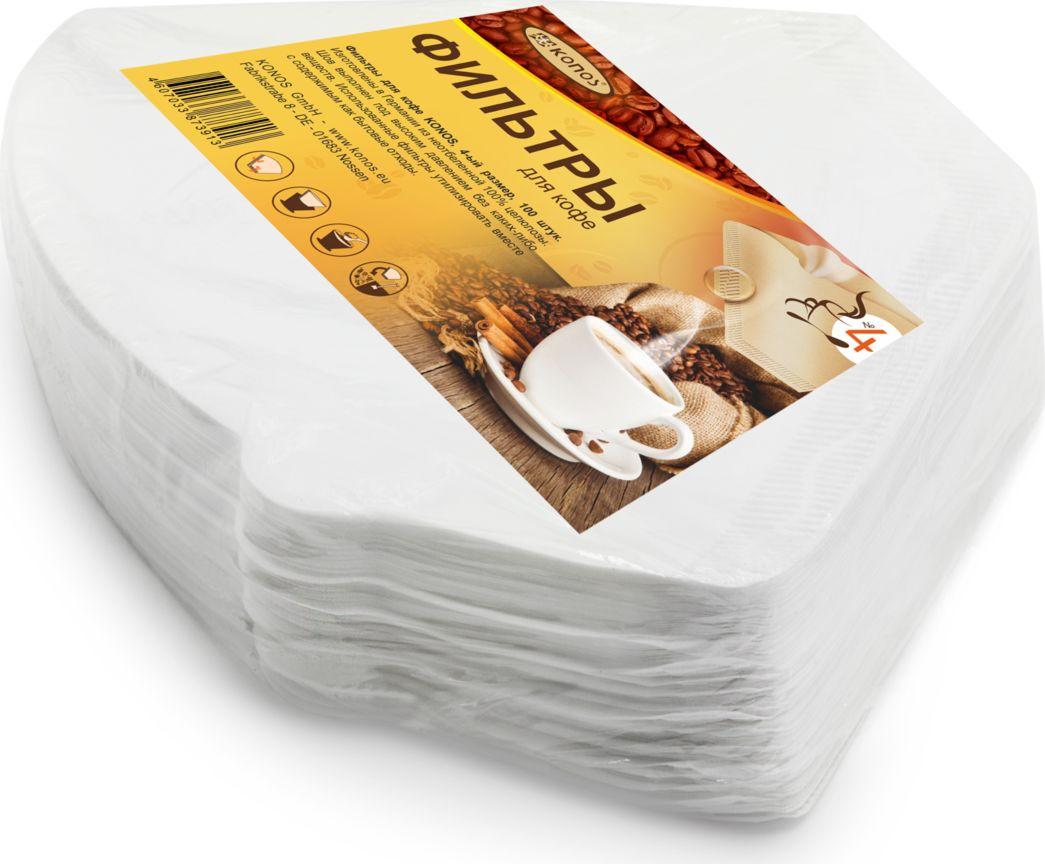 Кonos фильтр бумажный для кофеварок №4, 100 шт (Folie)КONOS-№4/100-FolieWeissБумажные одноразовые фильтры Konos №4 предназначены для кофеварок капельного типа.Превосходно сохраняют аромат и оригинальный вкус кофе.