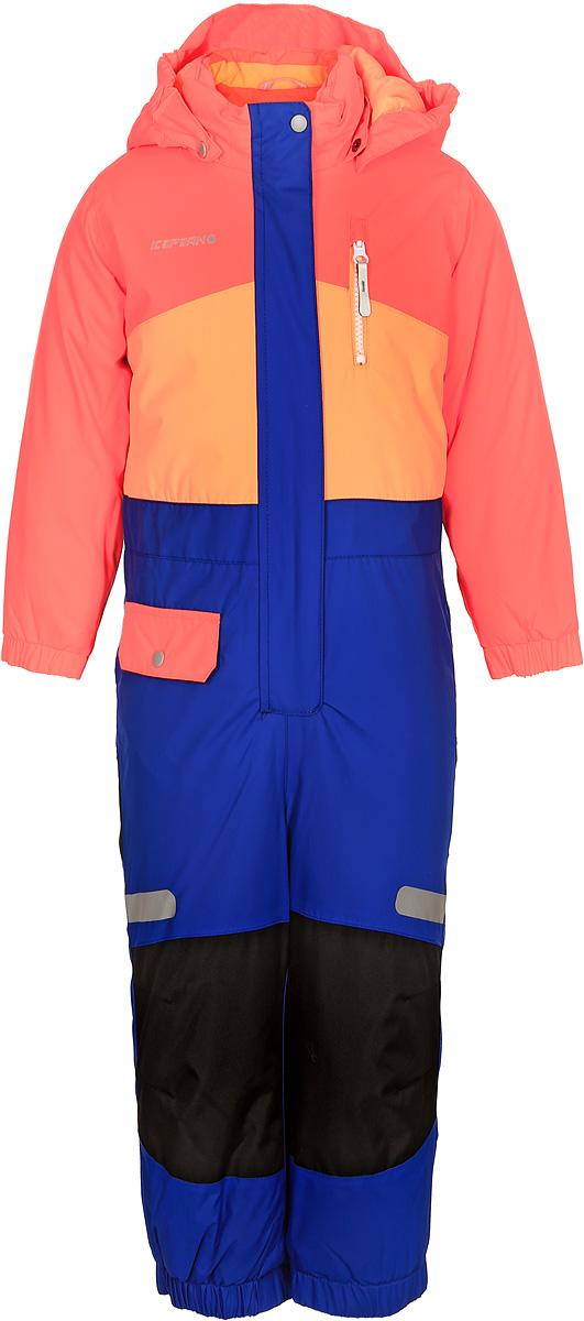 Комбинезон для девочки Icepeak, цвет: коралловый, синий. 852152517IV_443. Размер 92852152517IV_443