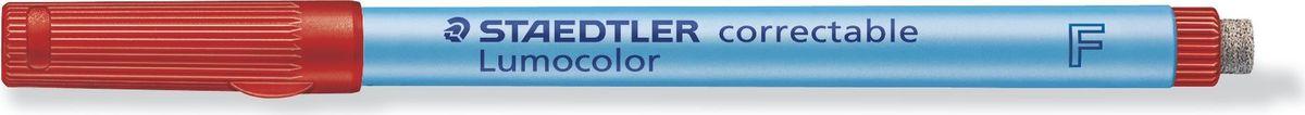 Staedtler Маркер Lumocolor с ластиком 0,6 мм цвет чернил красный305F-2Неперманентный маркер с ластиком на конце. Толщина линии - 0,6 мм. Цвет чернил - красный. Для надписей на пленке и других гладких поверхностях, таких как обложки, ламинированные документы и школьные доски. Стирается сухой тканью с большинства гладких поверхностей. Подходит для работы с проекторами. Чернила на водной основе. Имеют насыщенный цвет, слабый запах. Не просачивается сквозь бумагу. Встроенный ластик с торцевой стороны. Корпус и колпачок из полипропилена гарантируют долгий срок службы. Безопасно для самолетов - автоматическое выравнивание давления предотвращает от вытекания чернил на борту самолета.