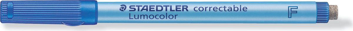 Staedtler Маркер Lumocolor с ластиком 0,6 мм цвет чернил синий305F-3Неперманентный маркер с ластиком на конце для надписей на пленке и других гладких поверхностях, таких как обложки, ламинированные документы и школьные доски. Стирается сухой тканью с большинства гладких поверхностей. Подходит для работы с проекторами. Не просачивается сквозь бумагу. Корпус и колпачок из полипропилена гарантируют долгий срок службы. Безопасно для самолетов - автоматическое выравнивание давления предотвращает от вытекания чернил на борту самолета. Толщина линии- 0,6 мм.