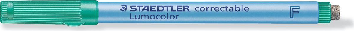 Staedtler Маркер Lumocolor с ластиком 0,6 мм цвет чернил зеленый305F-5Неперманентный маркер с ластиком на конце для надписей на пленке и других гладких поверхностях, таких как обложки, ламинированные документы и школьные доски. Стирается сухой тканью с большинства гладких поверхностей. Подходит для работы с проекторами. Не просачивается сквозь бумагу. Корпус и колпачок из полипропилена гарантируют долгий срок службы. Безопасно для самолетов - автоматическое выравнивание давления предотвращает от вытекания чернил на борту самолета. Толщина линии - 0,6 мм.