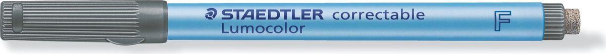 Staedtler Маркер Lumocolor с ластиком 0,6 мм цвет чернил черный305F-9Неперманентный маркер с ластиком на конце. Толщина линии - 0,6 мм. Цвет чернил - черный. Для надписей на пленке и других гладких поверхностях, таких как обложки, ламинированные документы и школьные доски. Стирается сухой тканью с большинства гладких поверхностей. Подходит для работы с проекторами. Чернила на водной основе. Имеют насыщенный цвет, слабый запах. Не просачивается сквозь бумагу. Встроенный ластик с торцевой стороны. Корпус и колпачок из полипропилена гарантируют долгий срок службы. Безопасно для самолетов - автоматическое выравнивание давления предотвращает от вытекания чернил на борту самолета.