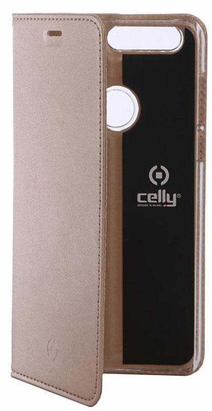 Celly Air Case чехол для Huawei Honor 8, GoldAIR610GDCPЧехол-книжка Celly Air Case для Huawei Honor 8 выполнен из высококачественных материалов и практически не увеличивает размер устройства. А благодаря его удобной конструкции все функциональные кнопки и разъемы остаются свободными. Чехол надежно защитит ваш аппарат от царапин и сколов, механических повреждений, а также позволит хранить кредитные карты или визитки в специально отведенном кармашке. Крышка может использоваться как подставка под устройство для удобного просмотра видео.