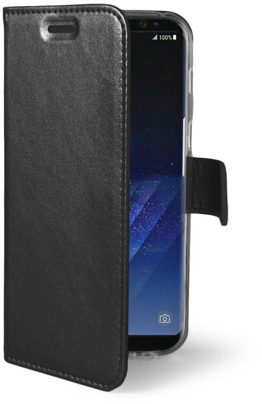 Celly Air Case чехол для Samsung Galaxy S8+, BlackAIR691BKЧехол-книжка Celly Air Case для Samsung Galaxy S8+ выполнен из высококачественных материалов и практически не увеличивает размер устройства. А благодаря его удобной конструкции все функциональные кнопки и разъемы остаются свободными. Чехол надежно защитит ваш аппарат от царапин и сколов, механических повреждений, а также позволит хранить кредитные карты или визитки в специально отведенном кармашке. Крышка может использоваться как подставка под устройство для удобного просмотра видео.
