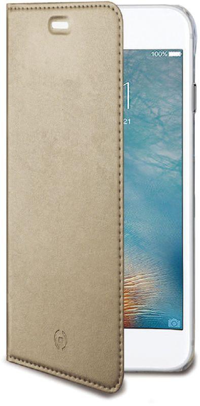 Celly Air Case чехол для Apple iPhone 7 Plus/8 Plus, GoldAIR801GDЧехол-книжка Celly Air Case выполнен из высококачественных материалов и практически не увеличивает размер устройства. А благодаря его удобной конструкции все функциональные кнопки и разъемы остаются свободными. Чехол надежно защитит ваш аппарат от царапин и сколов, механических повреждений, а также позволит хранить кредитные карты или визитки в специально отведенном кармашке. Крышка может использоваться как подставка под устройство, для удобного просмотра видео.