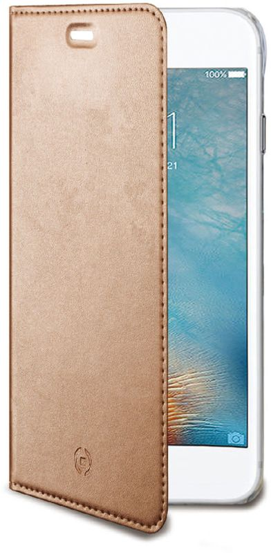 Celly Air Case чехол для Apple iPhone 7 Plus/8 Plus, Pink GoldAIR801RGЧехол-книжка Celly Air Case выполнен из высококачественных материалов и практически не увеличивает размер устройства. А благодаря его удобной конструкции все функциональные кнопки и разъемы остаются свободными. Чехол надежно защитит ваш аппарат от царапин и сколов, механических повреждений, а также позволит хранить кредитные карты или визитки в специально отведенном кармашке. Крышка может использоваться как подставка под устройство, обеспечивая удобный просмотр видео.