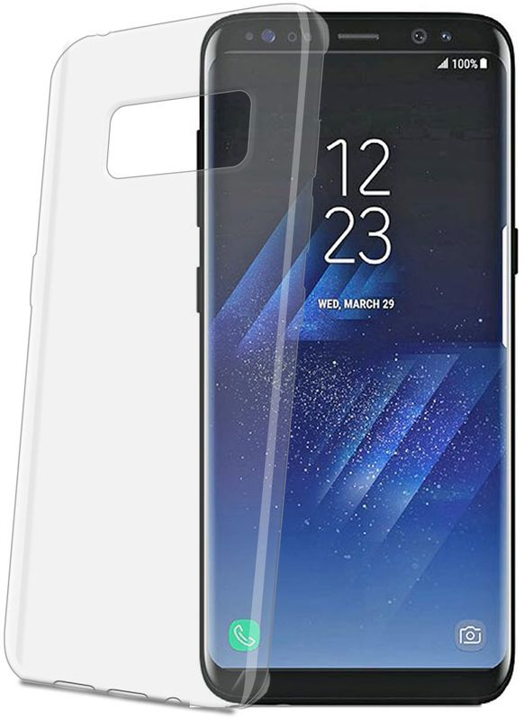 Celly Gelskin чехол для Samsung Galaxy S8 чехол для samsung galaxy j1 2016 sm j120f ds celly gelskin прозрачный