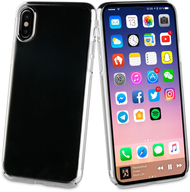 Muvit Crystal Case чехол для Apple iPhone X, SilverMUCRY0172Тонкий защитный чехол Crystal это прозрачный чехол. Выполнен из термополиуретана, поскольку этот материал поглощает удары. Обеспечивает эффективную защиту Вашего устройства.Материал термополиуретанПрозрачныйПротивоударный