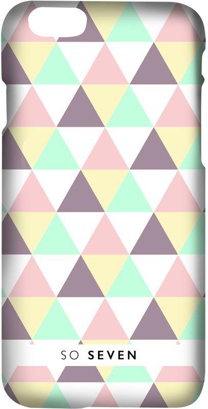 So Seven Grpahic Pastel Triangle чехол для Apple iPhone 8/7SVNPCGRAP3IP7Клип-кейсSo Sevenстанет отличным украшением смартфона благодаря оригинальному принту. Рисунок нанесен с помощью современной методики ультрафиолетовой печати, поэтому он не выцветает и не теряет четких очертаний со временем. Для изготовления чехла используется жесткий поликарбонат. Этот высокопрочный пластик выдерживает очень большие нагрузки, не допуская повреждения смартфона.
