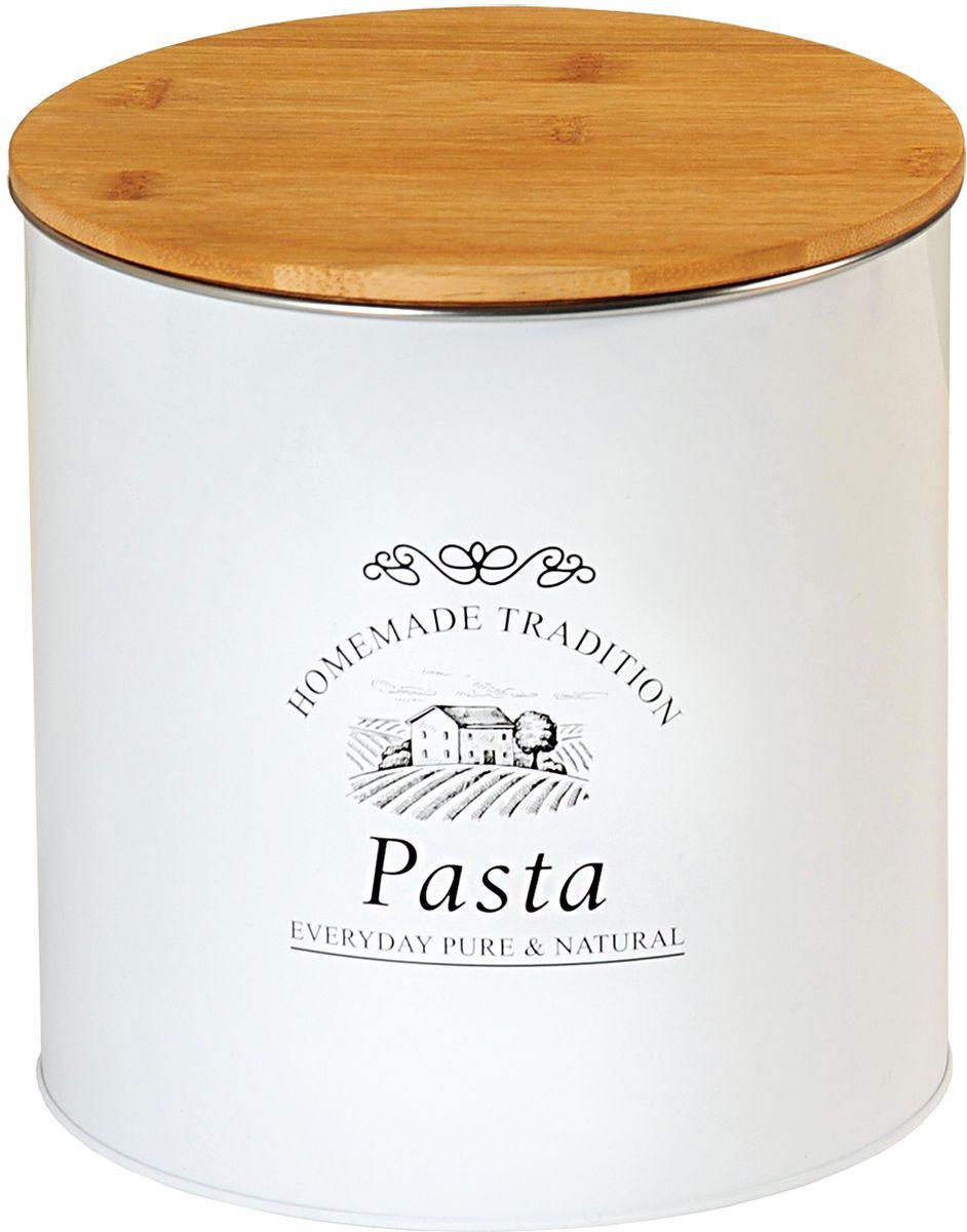 Банка для сыпучих продуктов Kesper Pasta, 17,3 х 18 см3825-4Банка Kesper Pasta, выполненная из металла, снабжена деревянной крышкой, которая плотно и герметично закрывается, дольше свежесть содержимого. Изделие предназначено для хранения любого вида макаронных изделий . Стильная и практичная, такая банка станет незаменимым аксессуаром на любой кухне.