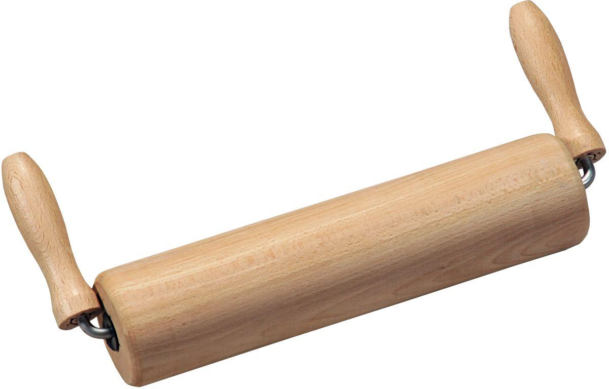 Скалка Kesper, длина 22 см6937-3Скалка Kesper, изготовленная из бука, оснащена двумя удобными ручками.Букпрекрасно поддается шлифовке и полировке. Он не боится влаги, но, как в случаесо всеми без исключения скалками из древесины, вопрос влагостойкостирешается пропиткой дерева специальным минеральным или льняным маслом.Масло защищает скалку от коробления и растрескивания. Именно поэтому всескалки Kesper обработаны льняным маслом. Скалка оснащена двумя удобнымиручками. Положение ручек позволяет использовать скалку в углубленныхпротвинях.