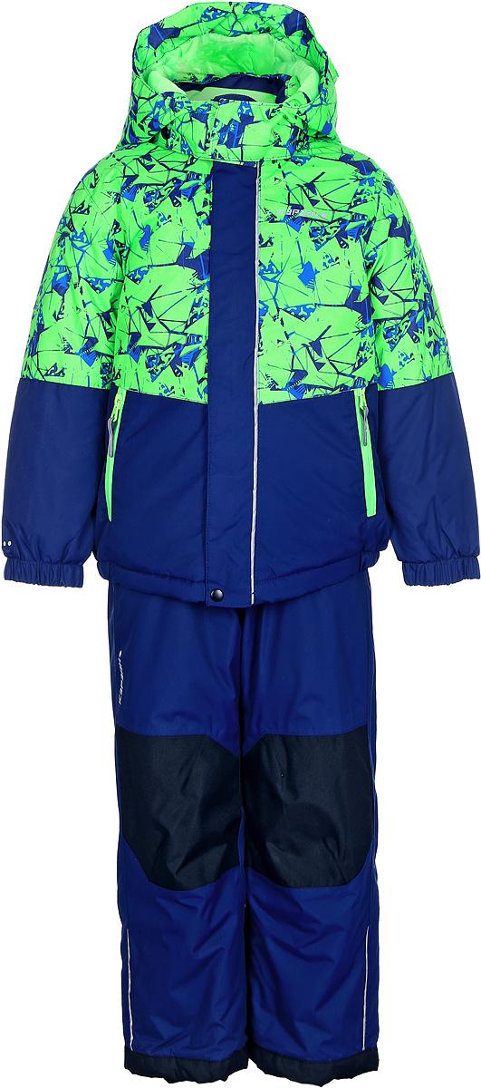 Комплект для мальчика Icepeak: куртка, брюки, цвет: зеленый, синий. 852103522IV_527. Размер 116852103522IV_527