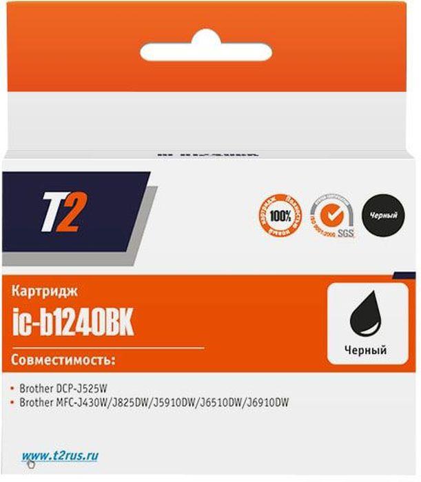 T2 IC-B1240BK, Black картридж для Brother DCP-J525/MFC-J430/J825/J5910/J6510/J6910