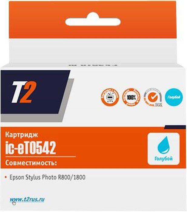 T2 IC-ET0542, Cyan картридж для Epson Stylus Photo R800/1800 с чипом