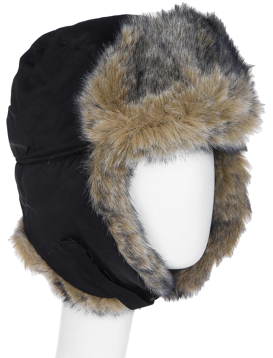 все цены на Шапка-ушанка Sarma Волк, комбинированная, цвет: черный. С030-1. Размер 58/59 онлайн
