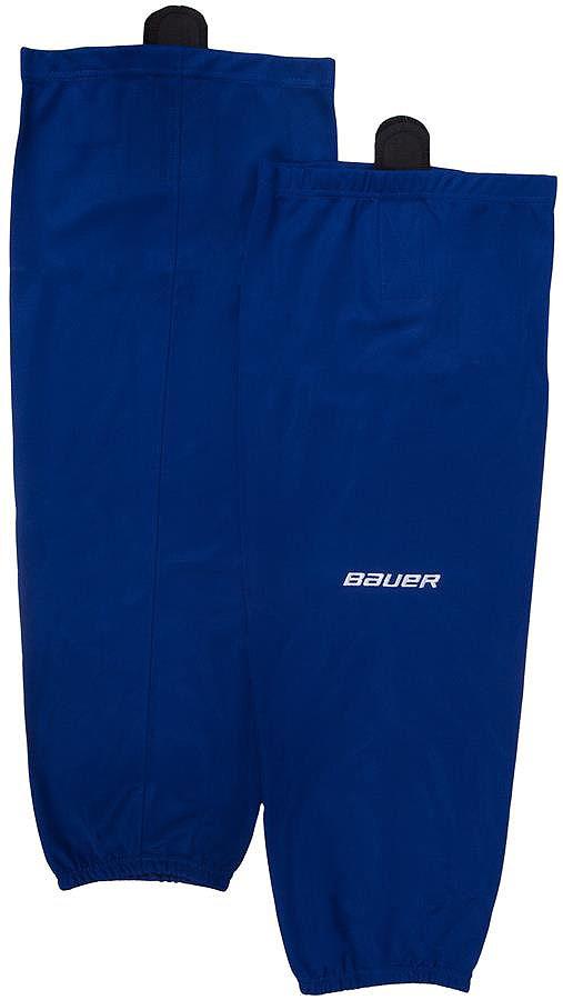 Хоккейные гамаши Bauer 600 Hockey Sock, цвет: синий. 1047748. Размер L/XL1047748Хоккейные гамаши BAUER - отличного стиля и качества, сделаны из полиэстера повышенной прочности.Имеют липучки для крепления и эластичный крой в колене и голеностопе для свободы движения. Превосходно смотрятся с тренировочными майками BAUER.