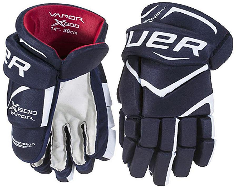 Перчатки хоккейные BAUER Vapor X600, цвет: синий. 1049179. Размер 141049179