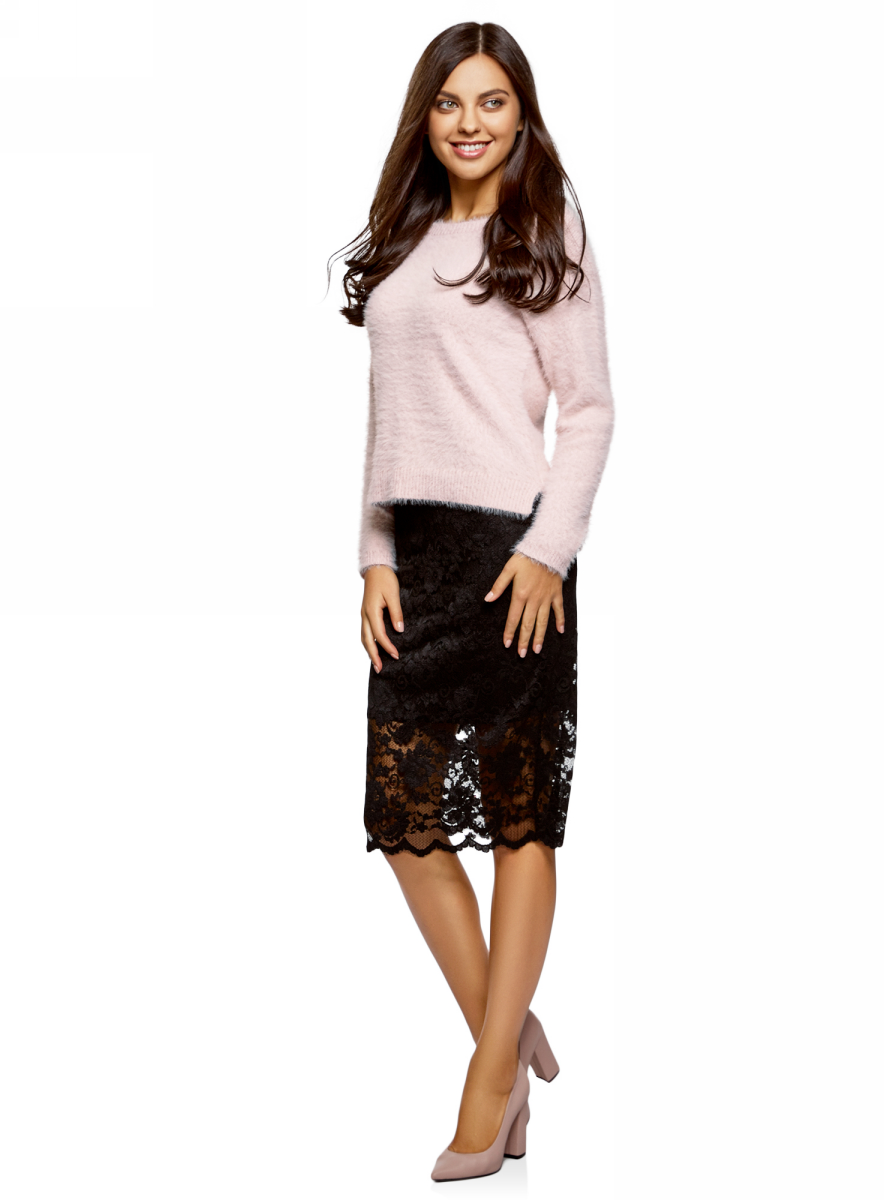 все цены на Джемпер женский oodji Ultra, цвет: светло-розовый. 63805314/47433/4000N. Размер XS (42) онлайн
